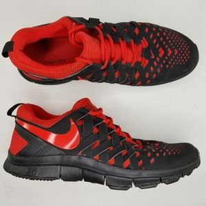 Nike Free Trainer 5.0 Athletic Shoes 12 Red Black